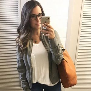 Jackets & Blazers - Like New: Grace and Lace sage tencel bomber jacket
